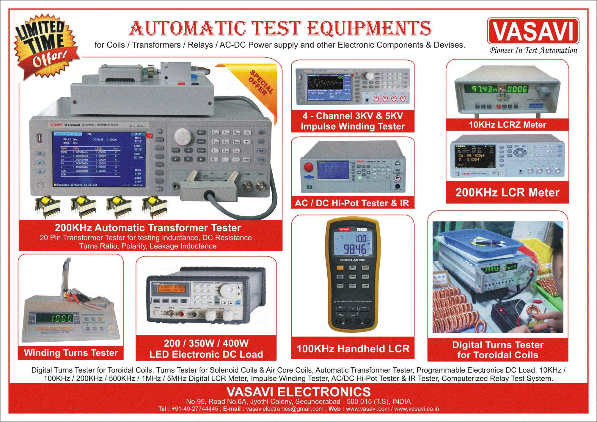 Automatic Transformer Tester , Automatic Relay Tester